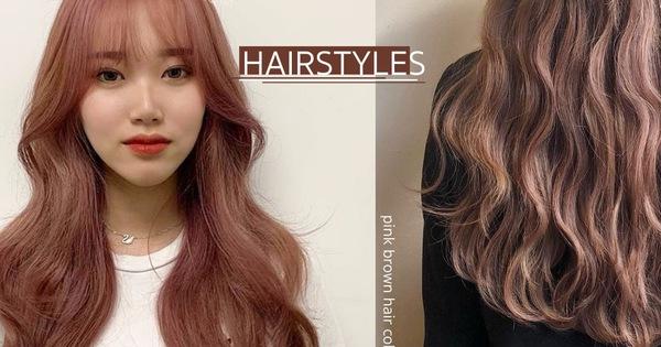 Năm mới bạn nên thử nhuộm tóc hồng nâu vì có tới 4 phiên bản, đã không kén da còn đảm bảo xinh lung linh