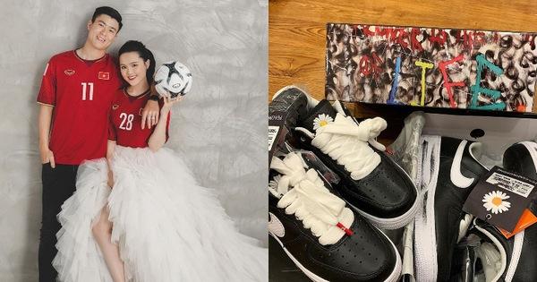 """Duy Mạnh – Quỳnh Anh khoe ảnh cưới ngọt ngào nhưng netizen chỉ săm soi giày đôi GD hoa cúc đã """"tróc vẩy"""" cực chất"""