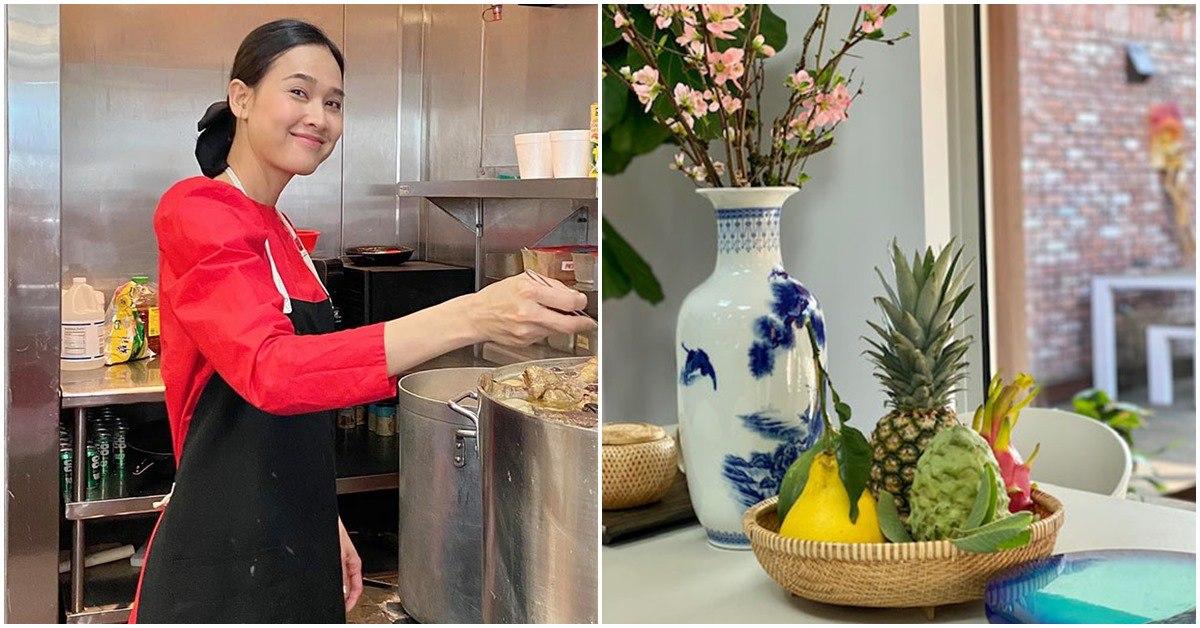 Nhà Celeb: Không chỉ ngoài vườn thơm ngát, Dương Mỹ Linh còn sống trong nhà đầy hoa