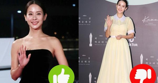 """Bao lần gây sốt với style sang chảnh sexy, nữ hoàng cảnh nóng Ký Sinh Trùng bất ngờ gây thất vọng tràn trề với bộ váy """"chán đời"""" tại Baek Sang 2020"""