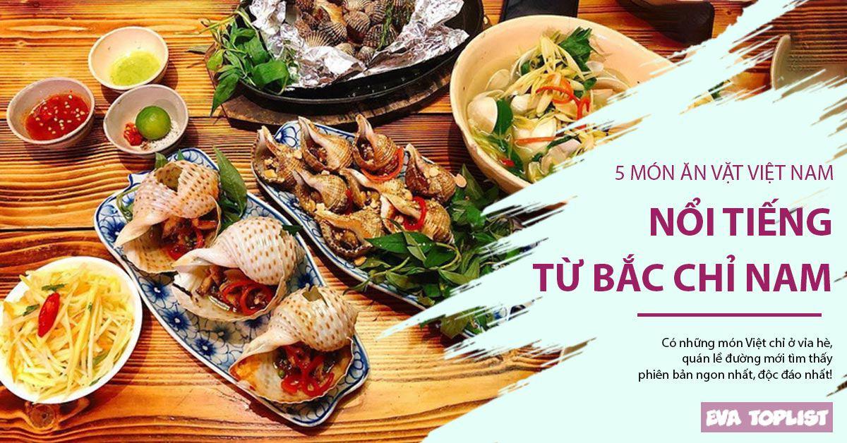 5 món ăn đường phố của Việt Nam được yêu thích từ Bắc chí Nam