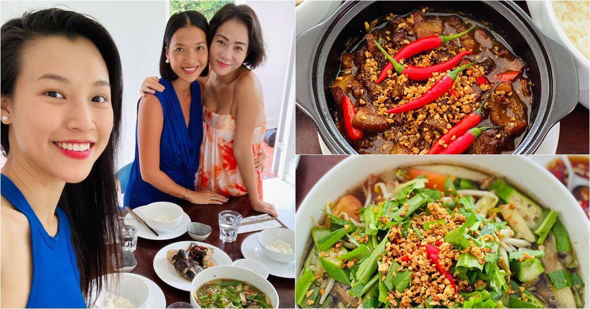 """Hoàng Oanh sướng rớt nước mắt, Thu Minh chạy sang ăn ké nhà """"Nữ tướng cướp"""" vì nấu quá ngon"""