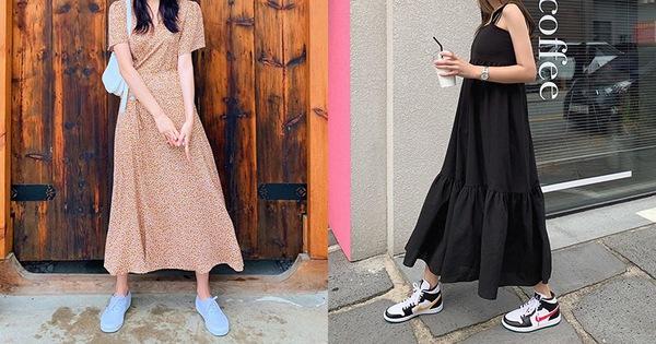 Cứ mix 5 kiểu váy sau với giày sneaker, bạn sẽ được nhân đôi vẻ sành điệu và xịn sò