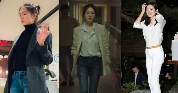 Những cây đồ sang chảnh hay trẻ trung của Son Ye Jin đều có quần skinny, xem xong bạn nhất định muốn bắt chước