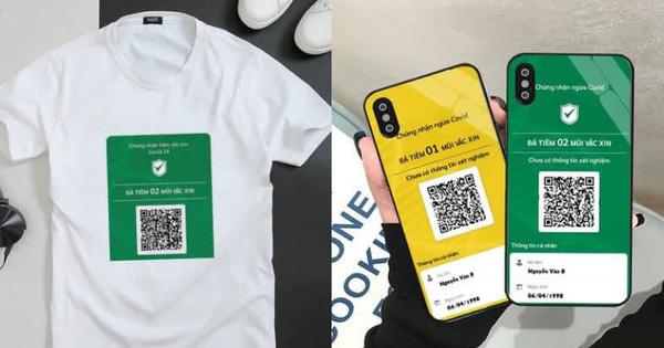 Hot trend in mã QR tiêm chủng lên quần áo, ốp điện thoại: Giá chỉ từ vài chục nghìn, đi lại kiểm tra tiện hơn hẳn, nhưng liệu có nên mua?