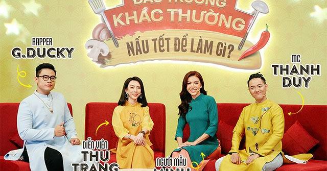 """Thu Trang, Minh Tú, Rapper G.Ducky biến tấu món chả giò ngày Tết theo """"xì-tai"""" khác biệt"""