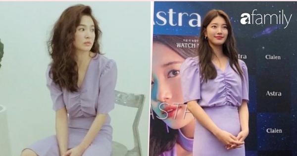 Ngày càng trẻ đẹp sau ly hôn, Song Hye Kyo dù diện sau vẫn lấn át đàn em Suzy khi đụng hàng