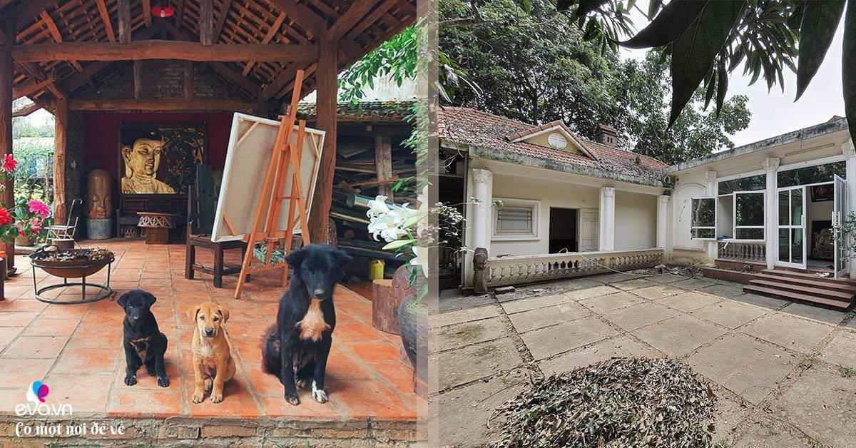 Tạm rời thủ đô, ông bố về quê làm nhà gỗ tìm bình yên ở nơi cách Hà Nội 37km
