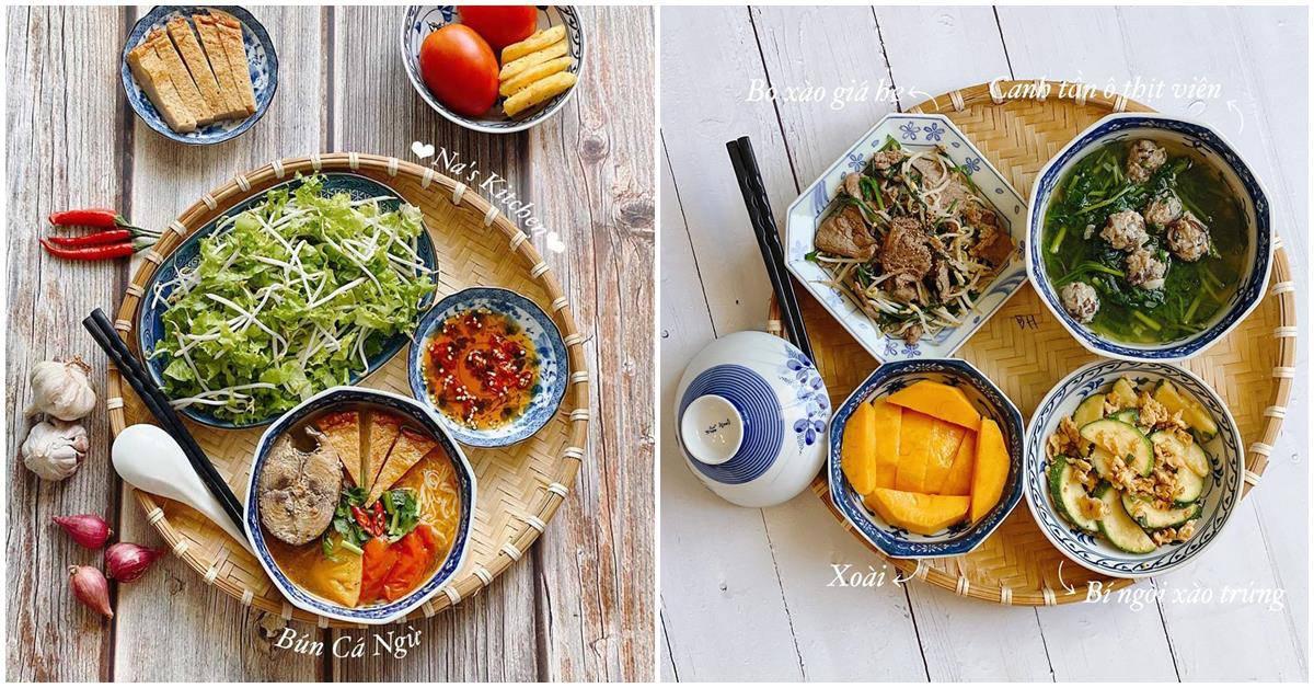 Ăn một mình nhưng bữa nào 9X cũng nấu đủ món, nhìn mâm cơm dân mạng phát thèm