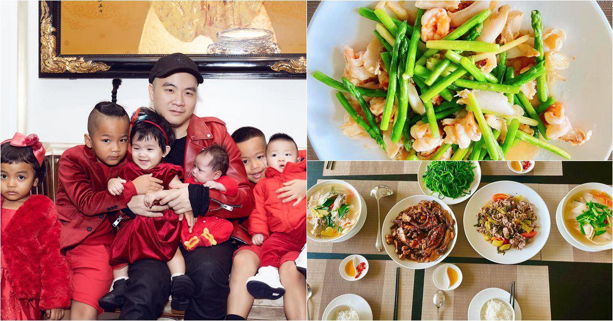 """Sao vào bếp: Ông bố 8 con của showbiz Việt làm chị em """"lác mắt"""" ghen tị vì nấu giỏi"""