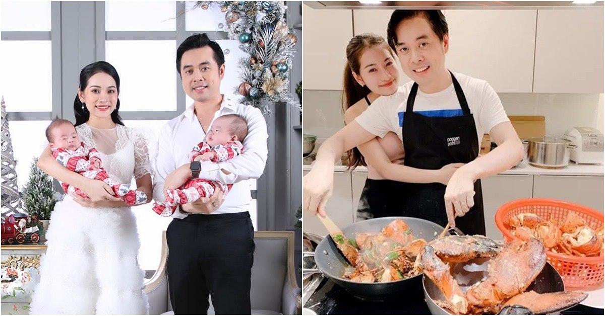 """Quanh năm nấu ăn cho vợ trẻ, Tết này nhạc sĩ Dương Khắc Linh lại muốn """"gác đũa"""" nghỉ ngơi"""