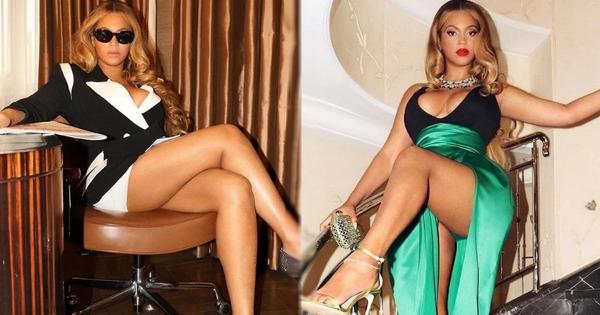 """Hoa mắt với """"bộ loa"""" phập phồng max volume của Beyoncé: Nể nhất là tà váy xẻ cao nhưng phụ tùng không mảy may lấp ló"""