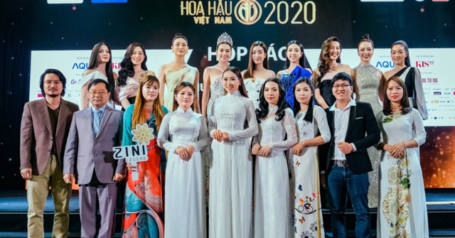 CEO Zini Legend cùng các giám đốc miền, NPP tại họp báo chung kết và Người đẹp Biển HHVN 2020