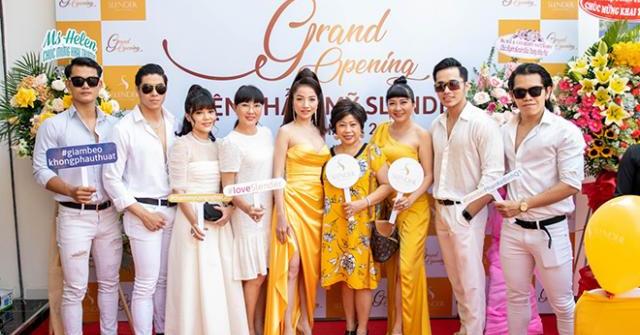 CEO Trương Thị Huyền gửi lời tri ân khách hàng tới tham dự khai trương Viện thẩm mỹ Slender