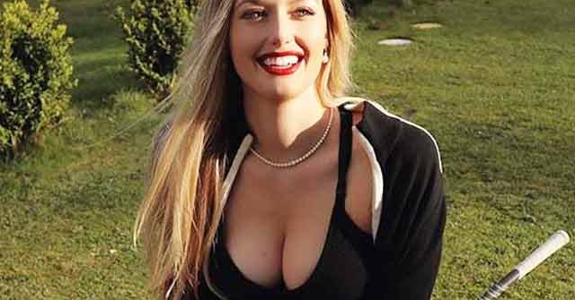 """Nữ golf thủ sexy nhất thế giới """"nghiện"""" mặc đồ bó sát vì sở hữu body nóng bỏng"""