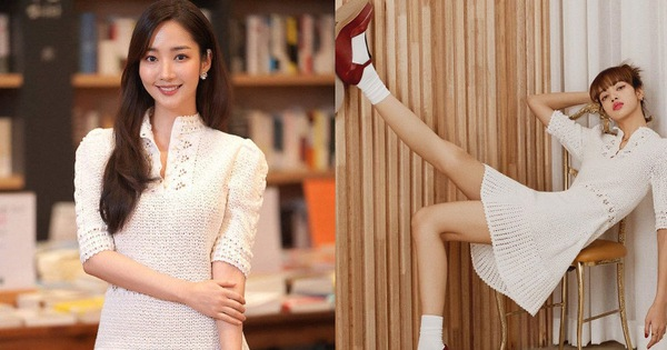 """Cùng diện váy bánh bèo, Park Min Young xinh rất xinh nhưng không lấn át được Lisa với đôi giày đế độn """"hàng khủng"""""""
