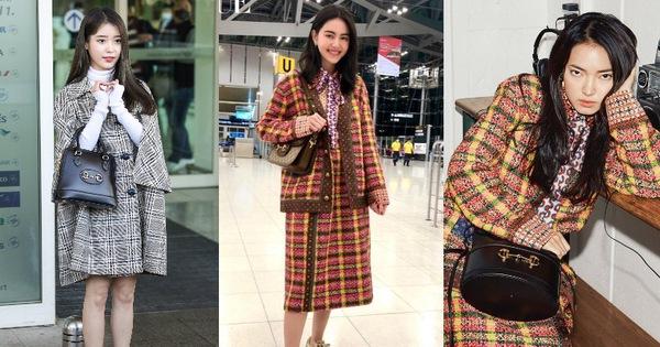 """IU và """"ma nữ"""" đẹp nhất Thái Lan đụng hàng tới tấp với Châu Bùi: Sao ngoại lên đồ lấn lướt hơn?"""