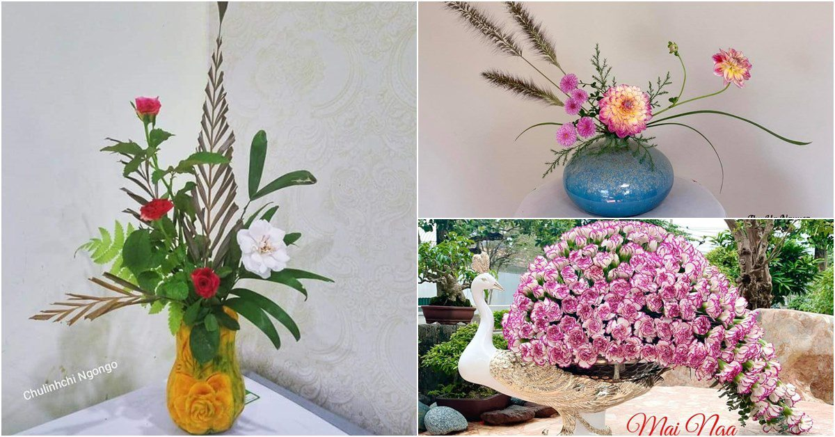 """Mẹ Việt tự tay cắm hoa 20/10, nhìn đến ảnh chim công, dân mạng thốt lên """"nức nở"""""""