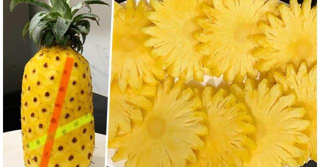 Cách gọt dứa siêu dễ lại đẹp như hoa của 9X, hội chị em nhìn là muốn thử ngay