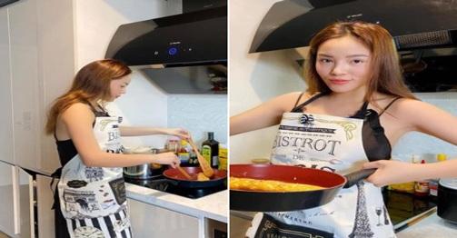 """Hoa hậu Kỳ Duyên trổ tài nấu món tủ """"ngon nhất Vịnh Bắc Bộ"""", bí quyết thơm ngon mềm xốp"""