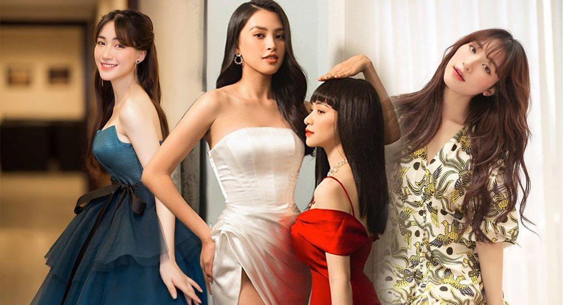 Đứng cạnh Tiểu Vy, Hoà Minzy lép vế khoản chiều cao nhưng vẫn hút sóng bởi diện mạo lạ hoắc
