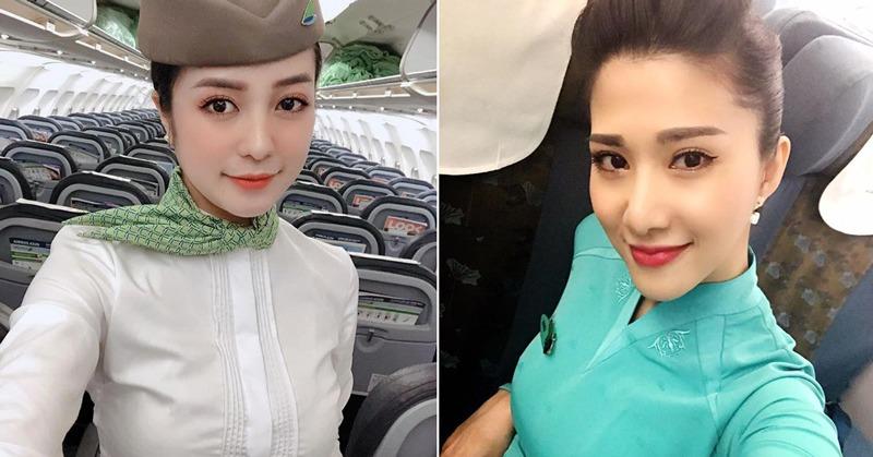 """Những nữ tiếp viên hàng không """"hot"""" MXH bầu bí đẹp nõn nà, riêng người cuối lên cân biến dạng"""