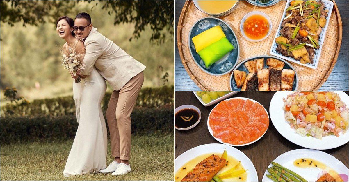 """Cô dâu nổi tiếng có đám cưới hôm nay: Làm """"anh nhà"""" tăng 10kg vì nấu ăn quá ngon"""