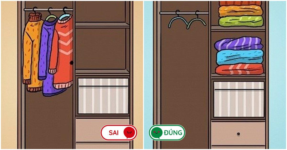 """8 lỗi sai mà """"ai cũng làm"""" khi cất quần áo vào tủ, lấy ra nhàu nhĩ như giẻ lau"""