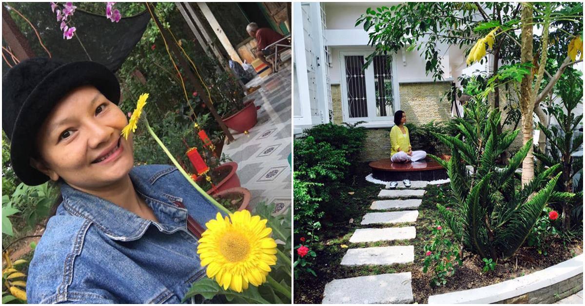 2 nữ hoàng màn ảnh rời showbiz về vườn: Người ở nhà thuê nuôi con, người biệt thự ngập cây