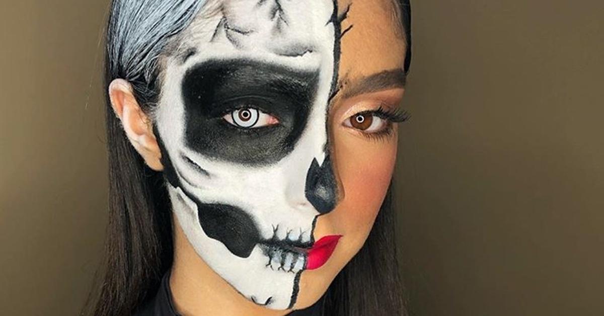 Những ý tưởng trang điểm Halloween nửa mặt có phần đáng sợ và tuyệt đẹp